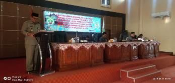 DPRD Balangan Gelar Paripurna Penyampaian Raperda Pertanggung jawaban APBD 2018 .