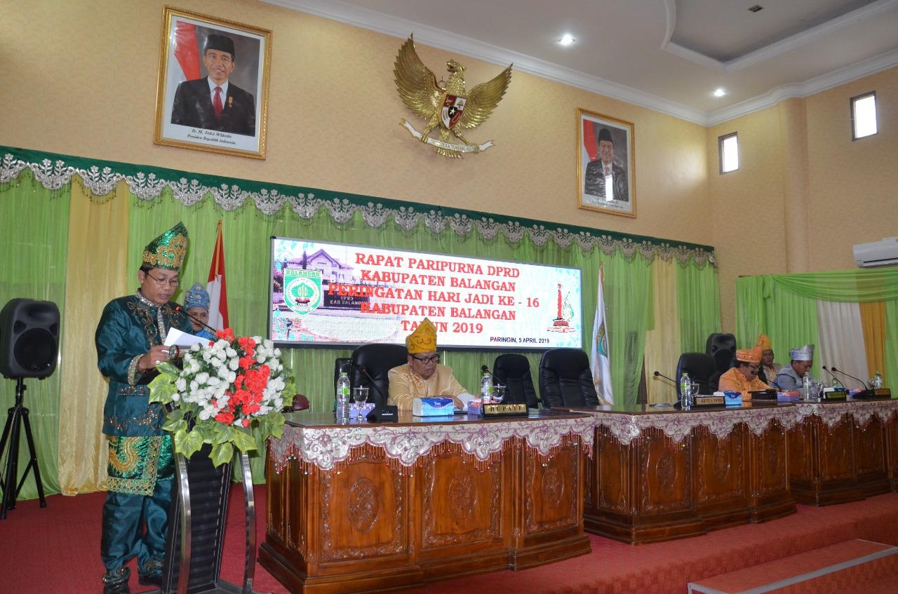 DPRD Balangan Gelar Rapat Paripurna Hari Jadi Balangan ke-16