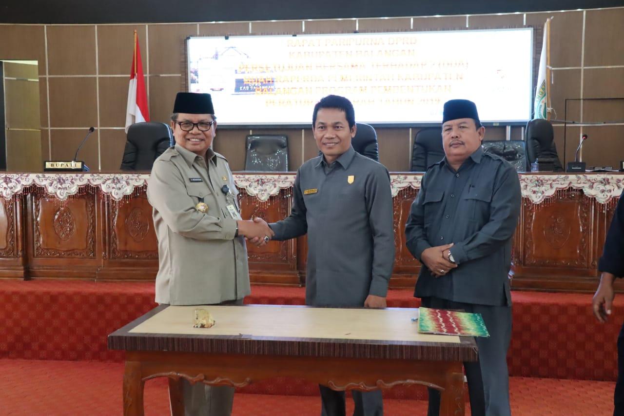 DPRD Balangan Setujui Dua Raperda Propemperda 2019