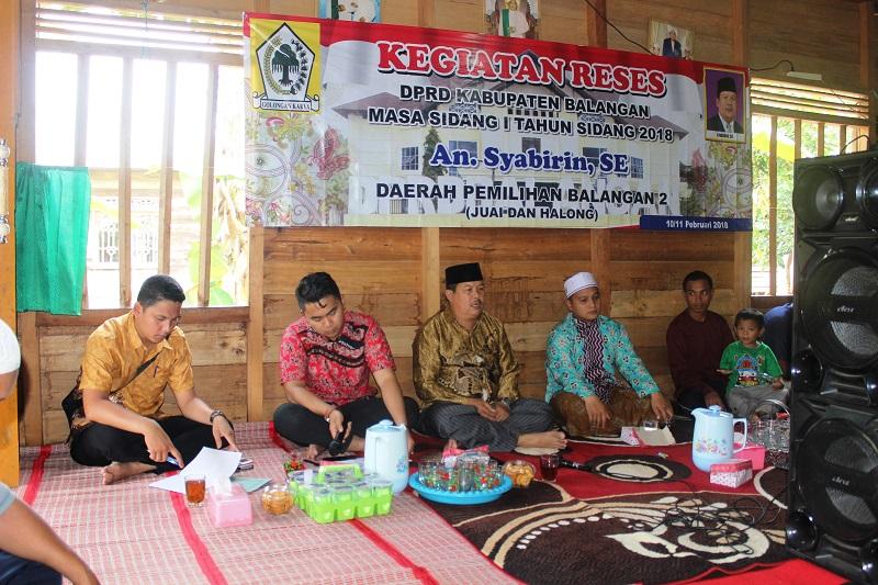 KEGIATAN RESES ANGGOTA DPRD BALANGAN DI DAPIL 2
