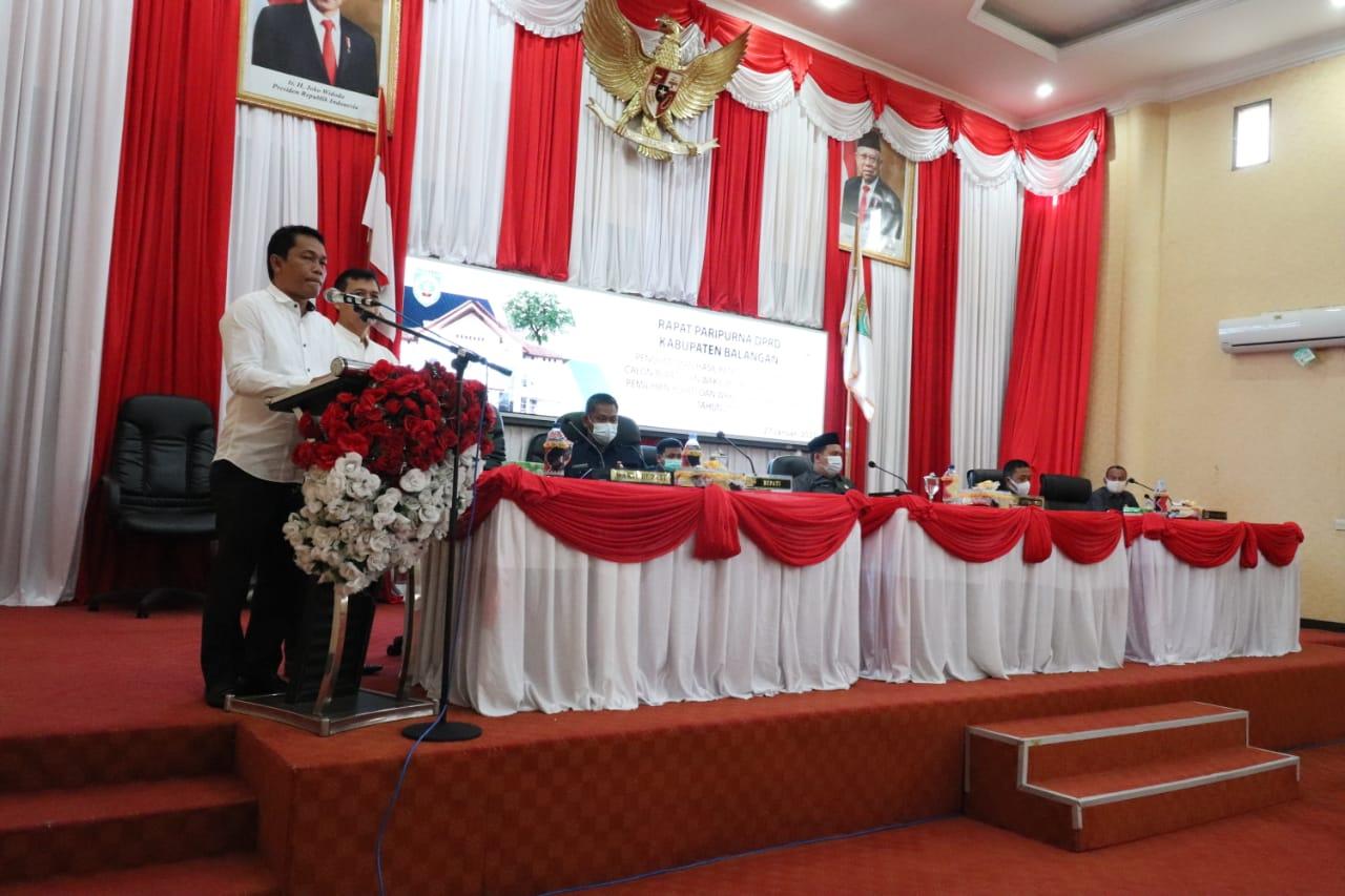 DPRD Balangan Tetapkan Pasangan Abdul Hadi-Supiani Sebagai Bupati dan Wakil Bupati Balangan Periode 2021-2024