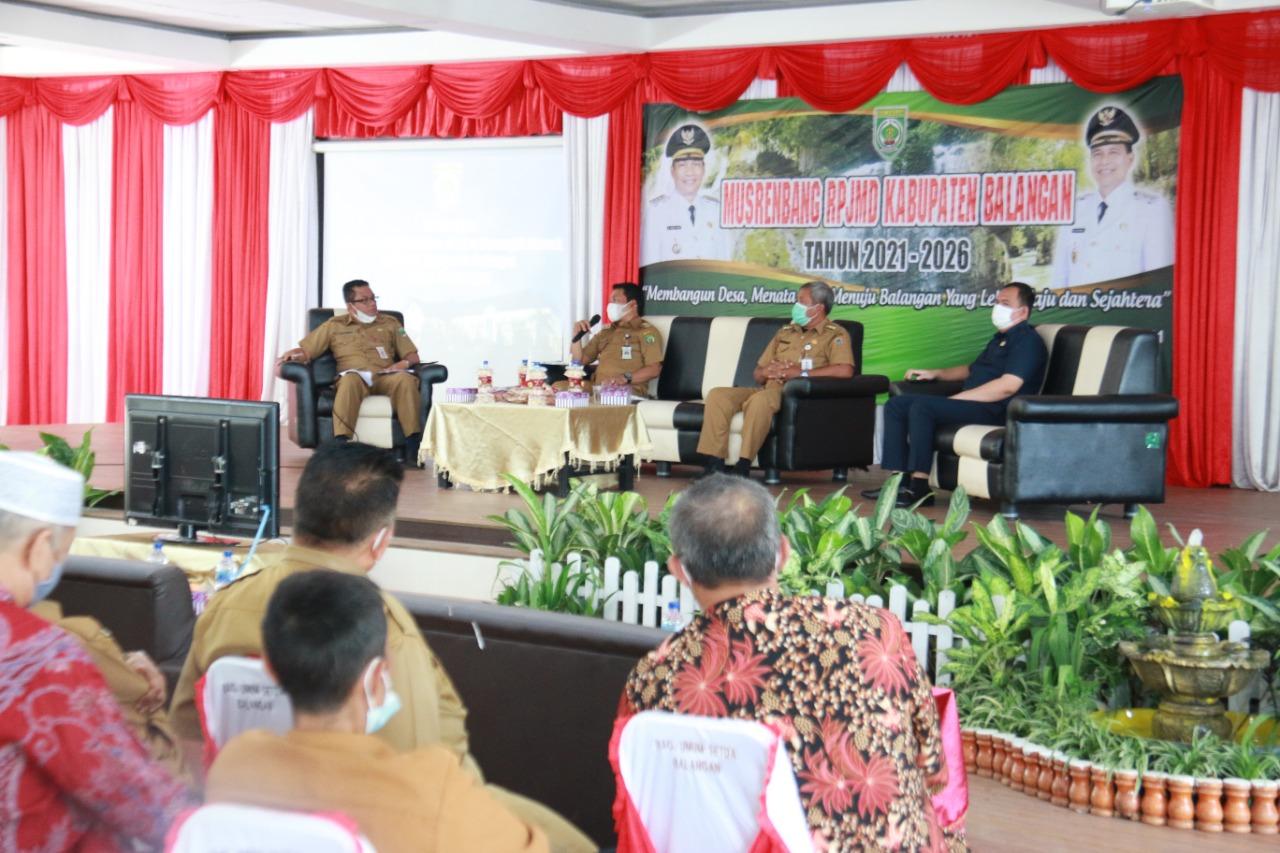 Pemkab Balangan Laksanakan Musrenbang RPJMD Tahun 2021-2026