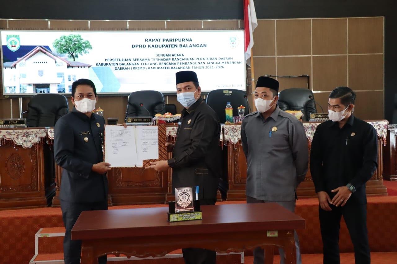 Legislatif dan Eksekutif Sepakati RPJMD Kabupaten Balangan Tahun 2021-2026