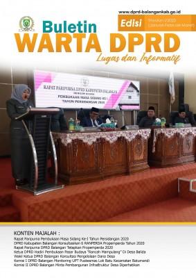 Buletin DPRD Balangan Triwulan I 2020